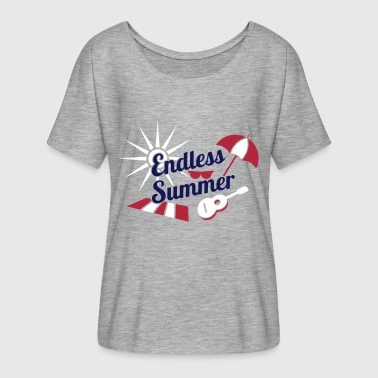 Endless Summer Festival Fun - Women's Flowy T-Shirt