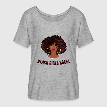 Best Selling AFRO TEAM NATURAL HAIR Black Pride - Women's Flowy T-Shirt