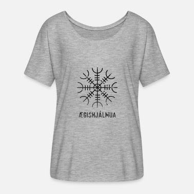 Folklore Iceland Nordic Viking Battle Folklore - Women's Flowy T-Shirt