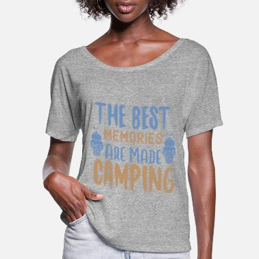 Mountains The Best Memories Are Made Camping - Women's Flowy T-Shirt