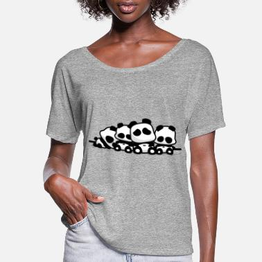 Sleeping Sleeping Pandas - Women's Flowy T-Shirt