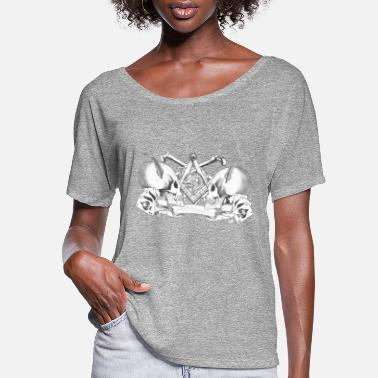 Skull skulls with bones - Women's Flowy T-Shirt