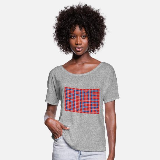 Game T-Shirts - Game Over - Women's Flowy T-Shirt heather gray