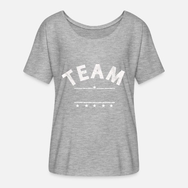 Text Personalize Your Own Team T Shirt Just Add Text - Women's Flowy T-Shirt