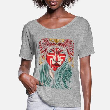 Graphic Art jungle girl - Women's Flowy T-Shirt