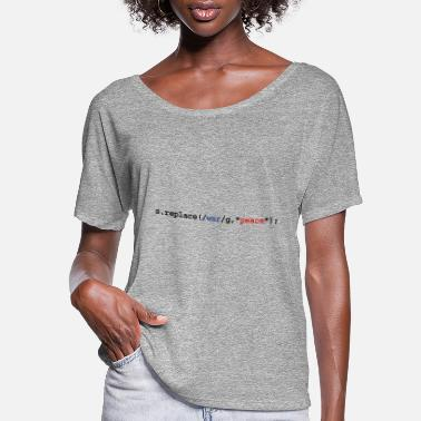 Tablet replace war with peace - Women's Flowy T-Shirt