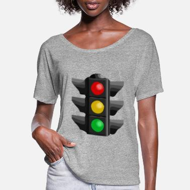 Light Traffic Light - Women's Flowy T-Shirt