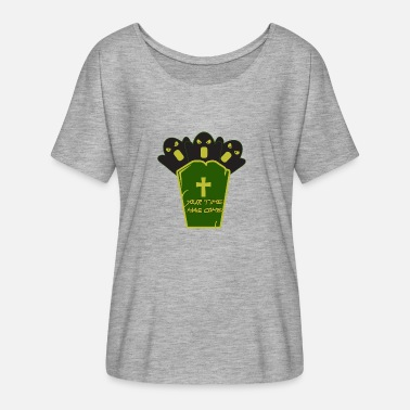 Grave Halloween with a grave - Women's Flowy T-Shirt