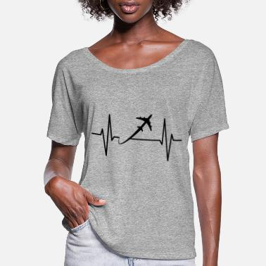 Travel Travel Heartbeat - Women's Flowy T-Shirt