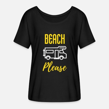 Furlough Beach Please - Women's Flowy T-Shirt