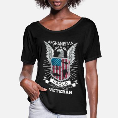 Afghanistan War Veteran Afghanistan War Proud Veteran Gifts For Veterans - Women's Flowy T-Shirt