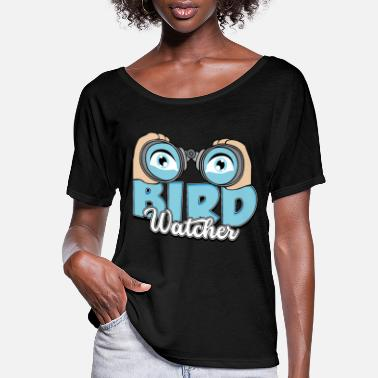 Bird bird watching, bird watching gift - Women's Flowy T-Shirt