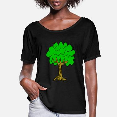 Linden Beautiful nature. Tree for environment and linden - Women's Flowy T-Shirt