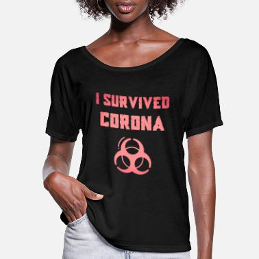 Chinese I Survived Corona Virus Coronavirus prince - Women's Flowy T-Shirt
