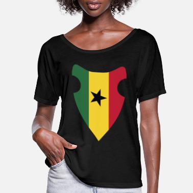 Country GHANA FLAG - Women's Flowy T-Shirt
