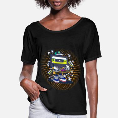 Pop Culture Cassettes Mixer 80s 80s Pop DJ Vintage Gift - Women's Flowy T-Shirt