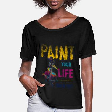 Painting Paint Painting - Women's Flowy T-Shirt