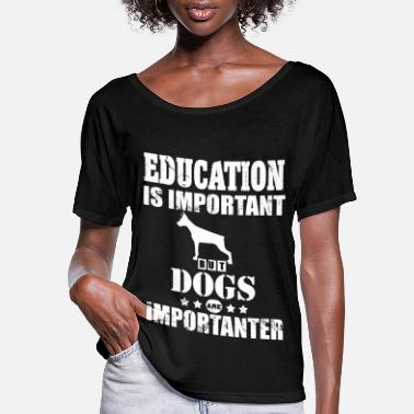 Mistress Dog Owner Education Master Mistress Puppy - Women's Flowy T-Shirt