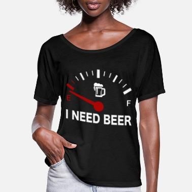 Fuel Gauge Fuel Gauge I Need Beer - Women's Flowy T-Shirt