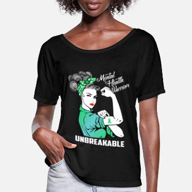 Mental Mental Health Warrior Unbreakable - Women's Flowy T-Shirt