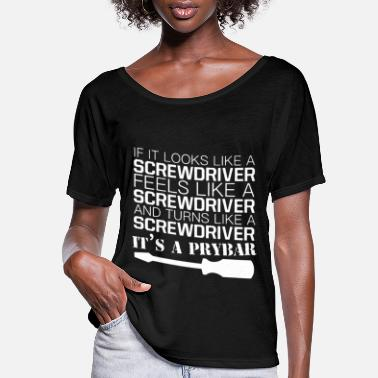 Light if it looks like a screwdriver electrical t shirts - Women's Flowy T-Shirt