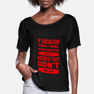 Communism socialism sucks capitalism cures conservative - Women's Flowy T-Shirt