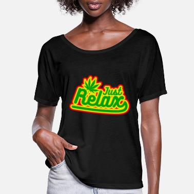 Rasta just relax - Women's Flowy T-Shirt