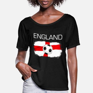 England Football Soccer England Fan Flag Gift - Women's Flowy T-Shirt