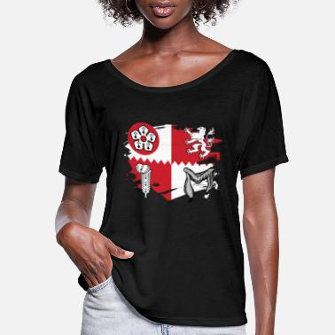 Leicestershire Leicestershire Flag Paint Splatter Design - Women's Flowy T-Shirt