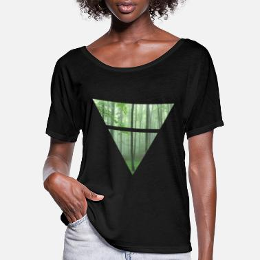 Triangle Trees - Women's Flowy T-Shirt