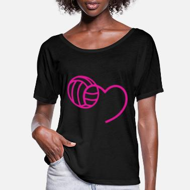 Beach MY BALL IN MY HEART t-shirts - Women's Flowy T-Shirt