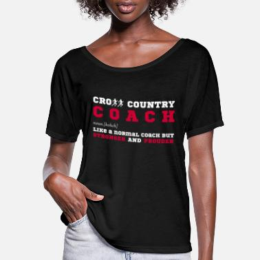 Country Funny Cross Country Coach Gift - Women's Flowy T-Shirt