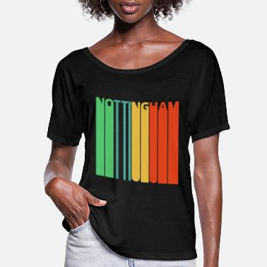 Nottinghamshire Vintage Retro Nottingham Gifts. - Women's Flowy T-Shirt