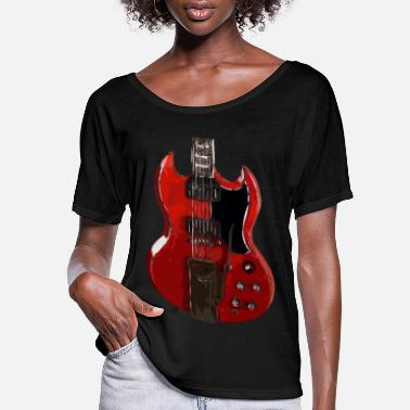 Shouter Guitar - Women's Flowy T-Shirt