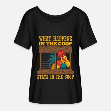 Chicken Chicken Coop Poultry Farmer Farm Animal Chickens - Women's Flowy T-Shirt