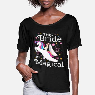 Bride Funny Bride To Be Bridesmaid Unicorn Party Gift - Women's Flowy T-Shirt