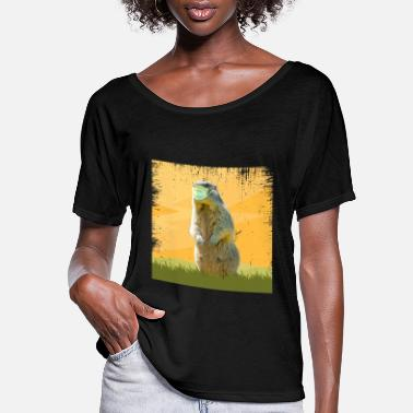 Phil groundhog day, 02/02, meteorology - Women's Flowy T-Shirt