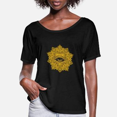 All Seeing Eye - Mandala Yoga - Women's Flowy T-Shirt