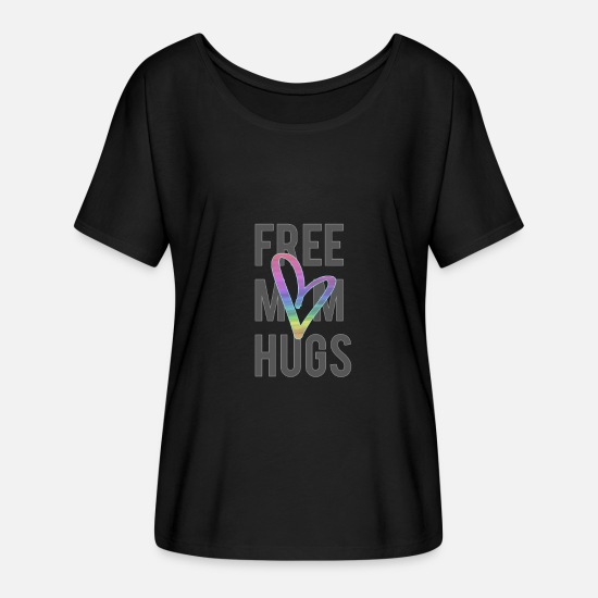 Free T-Shirts - LGBT Heart - Women's Flowy T-Shirt black