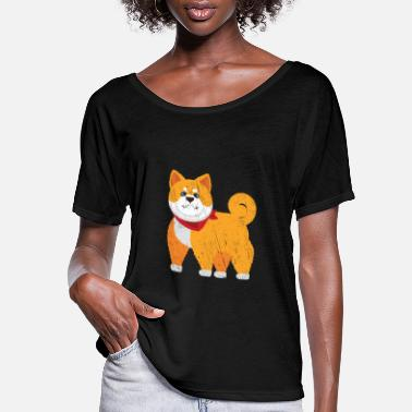 Hutning Shiba Inu Muscle Workout - Women's Flowy T-Shirt