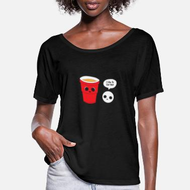 Beer Pong Beer Pong Champion I Like To Get Wet Gift - Women's Flowy T-Shirt