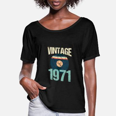 1971 Retro Vintage 1971 49 th Birthday Record Vinyl - Women's Flowy T-Shirt