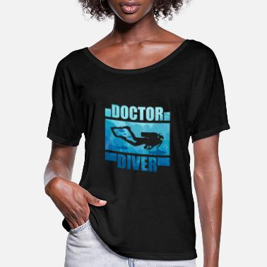 Diving Board Scuba Diving Gift Shirt - Women's Flowy T-Shirt