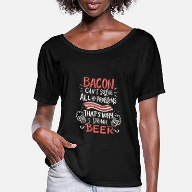 Bacon and Beer - Women's Flowy T-Shirt