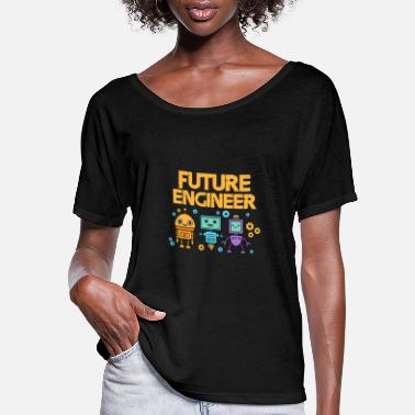 Robot Future engineer with robots - Women's Flowy T-Shirt