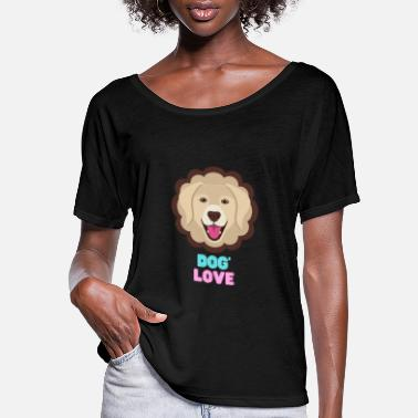 New Age Love dogs my family - Women's Flowy T-Shirt