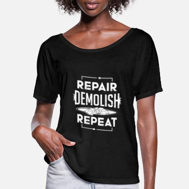 Destructive Demolition Derby Repair Demolish Repeat Derby - Women's Flowy T-Shirt