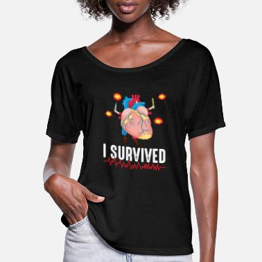 Heart Attack Heart Attack Survior Warrior Heart Disease Bypass - Women's Flowy T-Shirt