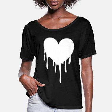 Heart melting heart - Women's Flowy T-Shirt