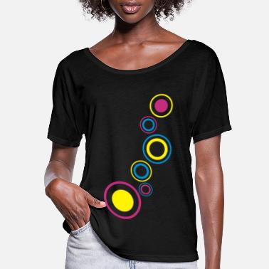 Circle dancefloor circles - Women's Flowy T-Shirt